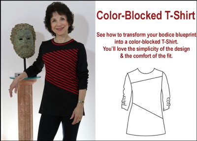 Color-Blocked T Shirt Pattern